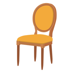 Louis chair cartoon