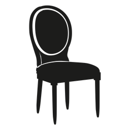 Icono plano de la silla de Louis