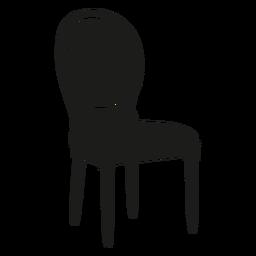 Louis chair flat icon