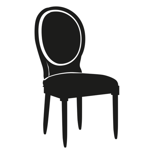 Louis chair flat icon Transparent PNG