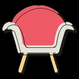 Icono de sillón moderno