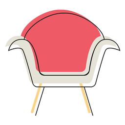 Modern armchair icon