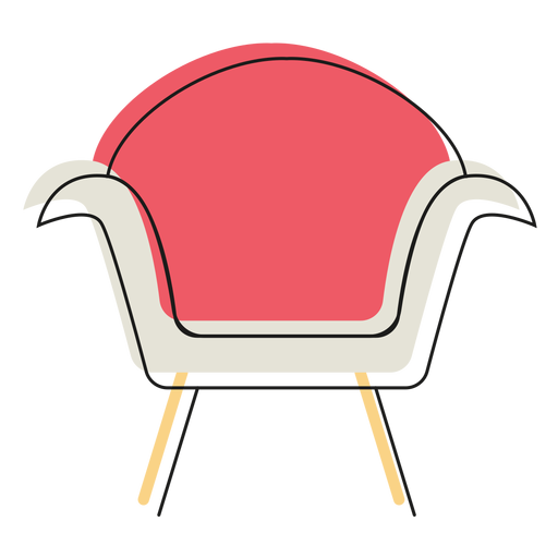 Modern armchair icon Transparent PNG