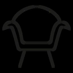 Ícone de traço de poltrona moderna