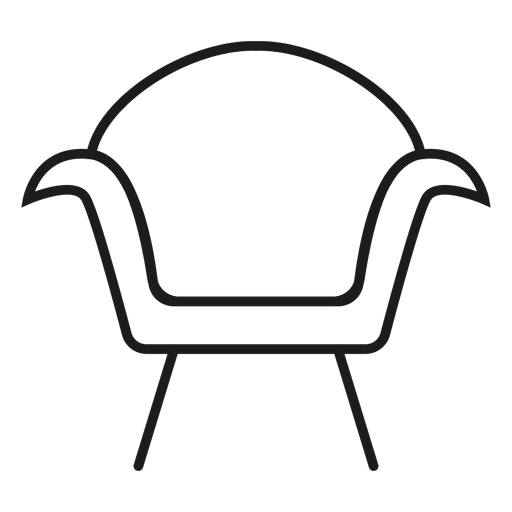 Modern armchair stroke icon Transparent PNG