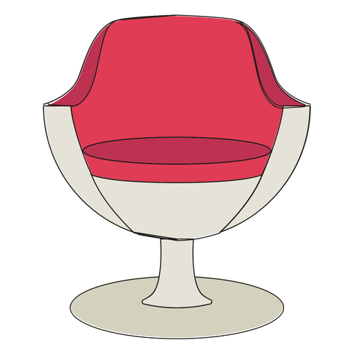 Modern chair cartoon - Transparent PNG & SVG vector file
