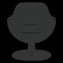 Icono plano de silla moderna