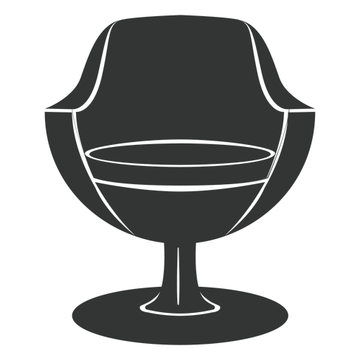 Modern chair flat icon Transparent PNG