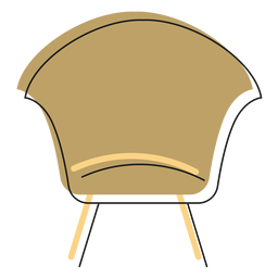 Modern side chair icon