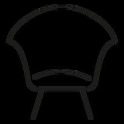 Modern side chair stroke icon