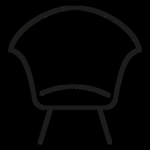 Icono de trazo de silla lateral moderna