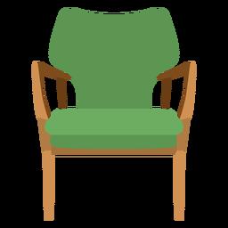 Dibujos animados de silla de brazo abierto