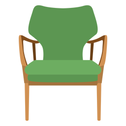 Open arm chair cartoon