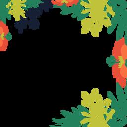 Fondo de vides de flor de naranja