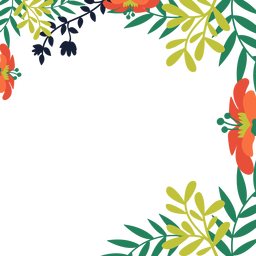 Orange flower vines background