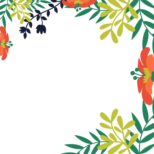 Fondo de vides de flor de naranja Transparent PNG