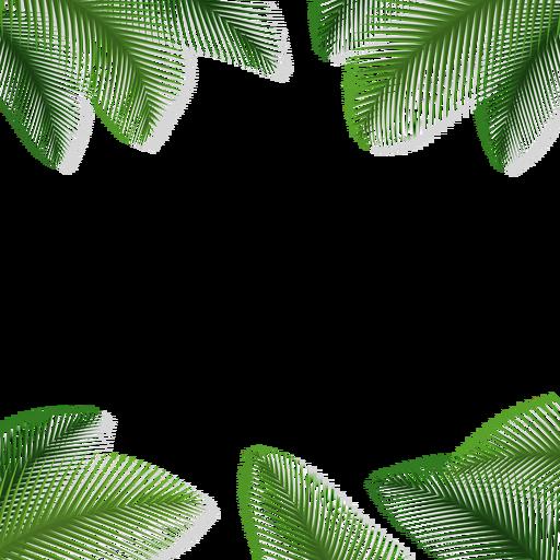 Fundo Floral De Folhas De Palmeira Baixar Pngsvg Transparente