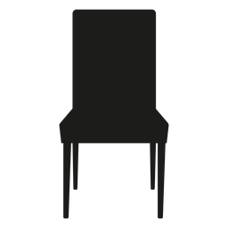 Parsons chair flat icon