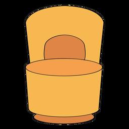 Poof cadeira com desenhos animados de volta