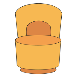 Poof chair with back cartoon