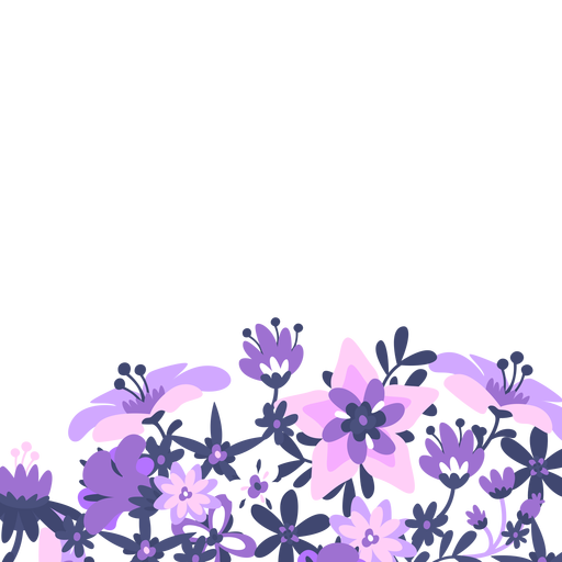 Purple lavender floral background Transparent PNG