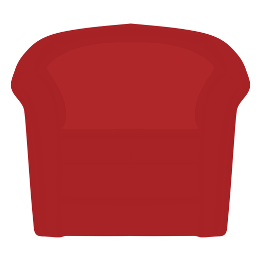 Red barrel chair icon Transparent PNG