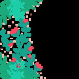 Fundo de videiras de flor vermelha