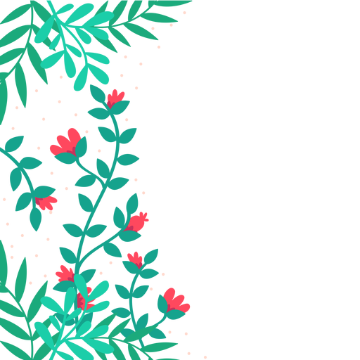 Red flower vines background , Transparent PNG \u0026 SVG vector