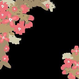 Fundo de flores vermelhas