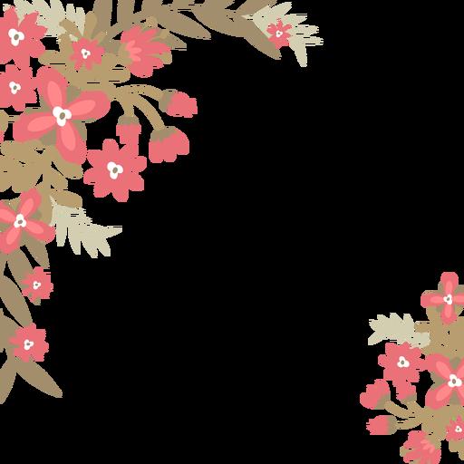 fundo de flores vermelhas transparent png
