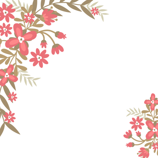 Red flowers background Transparent PNG