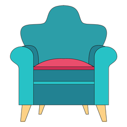 Rolled arm chair cartoon