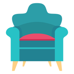 Rolled arm chair icon