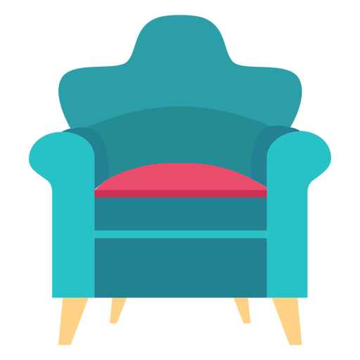 Rolled arm chair icon Transparent PNG