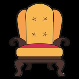 Dibujos animados de sillón real