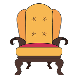 Royal armchair cartoon