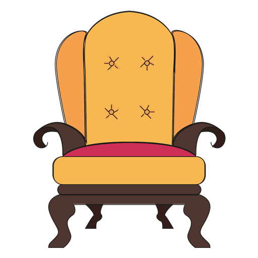 Royal armchair cartoon Transparent PNG