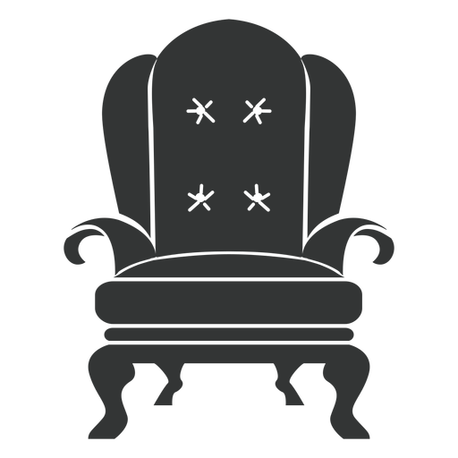 Royal armchair flat icon Transparent PNG