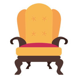 Royal armchair icon