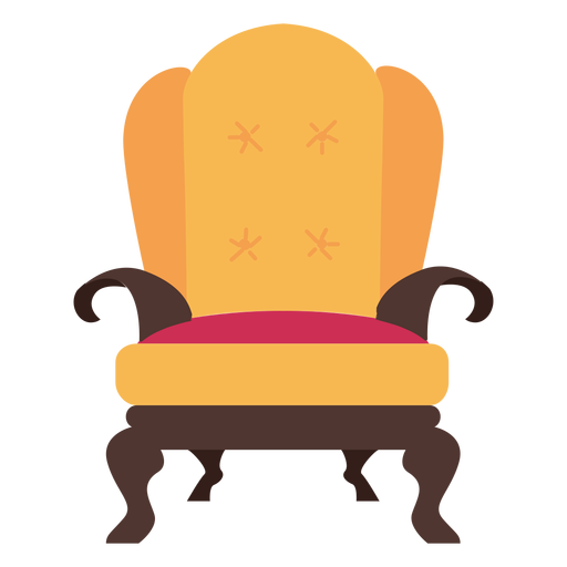 Royal armchair icon Transparent PNG