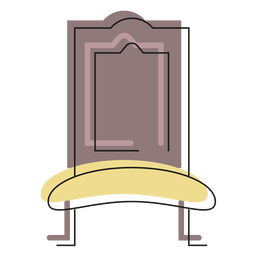 Royal chair icon