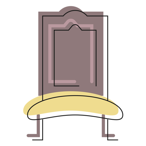 Royal chair icon Transparent PNG