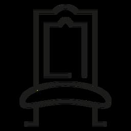 Ícone de traço de cadeira real