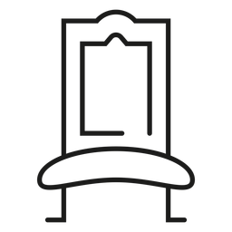Royal chair stroke icon