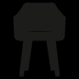 Ícone plana de cadeira de colher