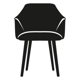 Scoop chair flat icon
