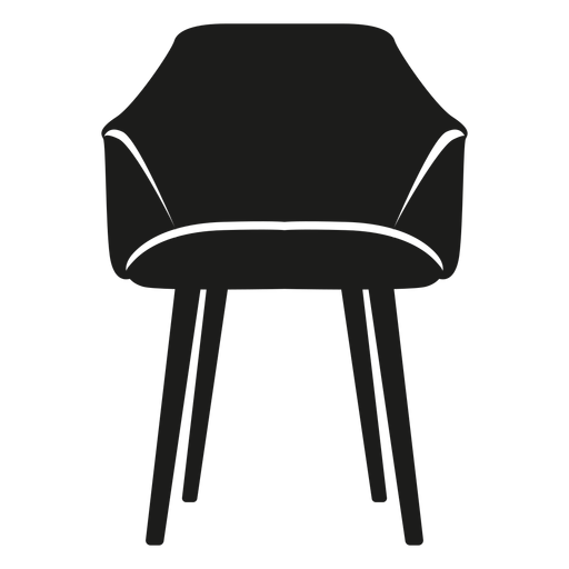 Scoop chair flat icon Transparent PNG