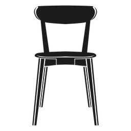 Side chair flat icon