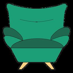 Desenhos animados de poltrona de sofá