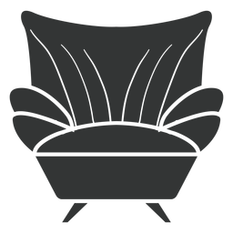 Ícone plana de poltrona de sofá